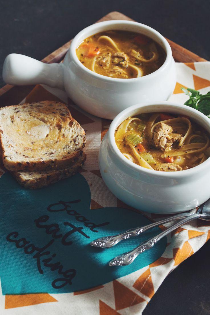 "#vegan ""chicken"" noodle soup | RECIPE on hotforfoodblog.com"