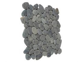 Gezien bij Badkamerexclusief.nl  Pebble Stones on net, zwart