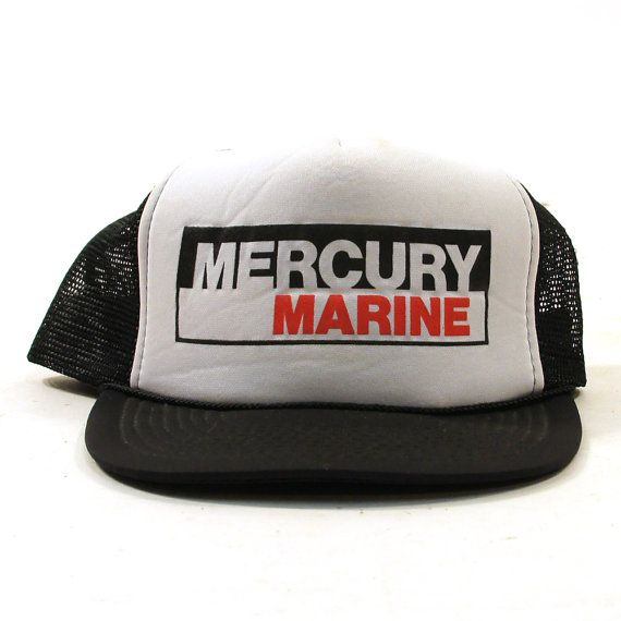 80s Trucker Hat / Mercury Marine by SpunkVintage on Etsy, $18.00