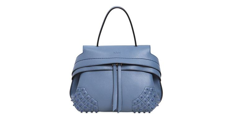 Tod's Small Shark-Leather Bag with Gommini: Making the Rounds