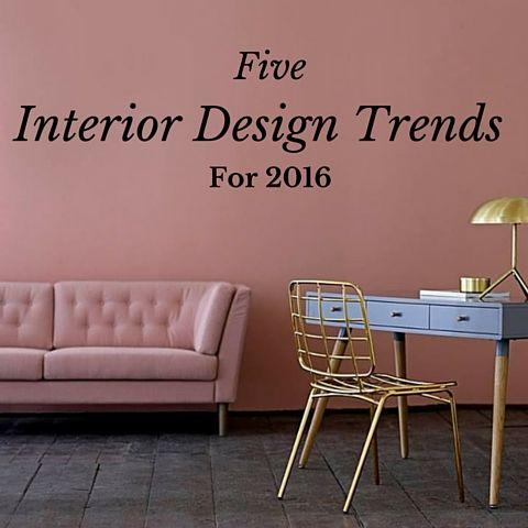 Five Interior Design Trends For 2016 - Brass Lighting