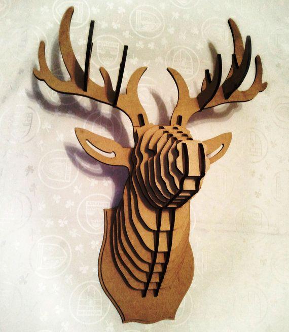 Cabeza de ciervo cabeza 3D Puzzle Animal por Dreamlightforyou