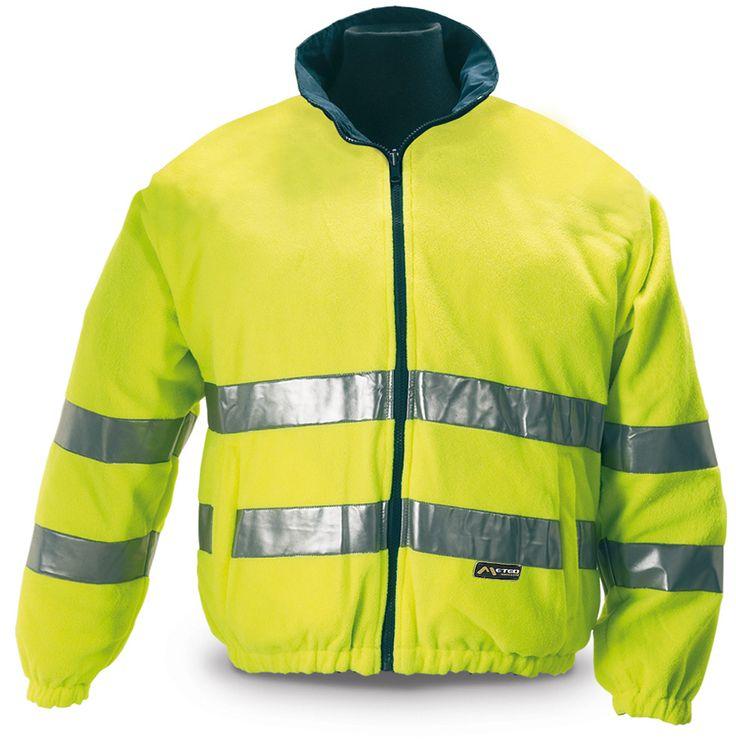 @marcaproteccion Cazadora forro polar reversible. Alta visibilidad Forro polar amarillo de alta visibilidad certificado según la EN 471. Convertible al ser reversible en una cazadora tipo nautica denylon azul marino.