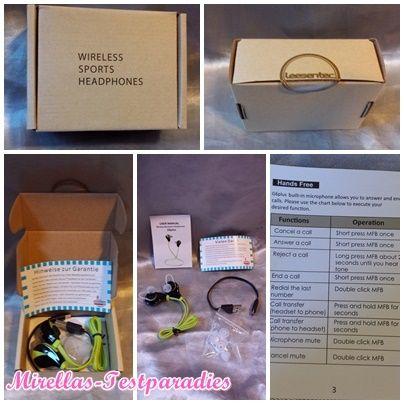 Die Bluetooth 4.1 Sport Stereo Kopfhörer von Leesentec | Mirellas Testparadies