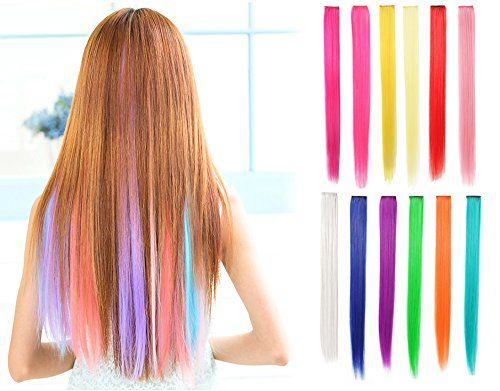 Really Cool Presents for 12 Year Old Girls!  How about some colored hair extensions?