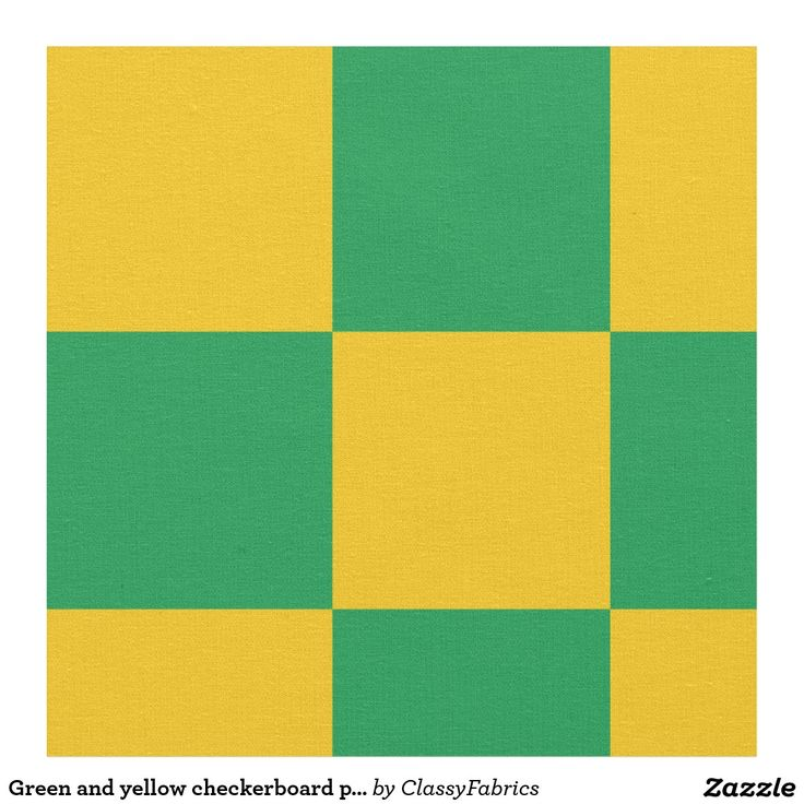 Green and yellow checkerboard pattern fabric