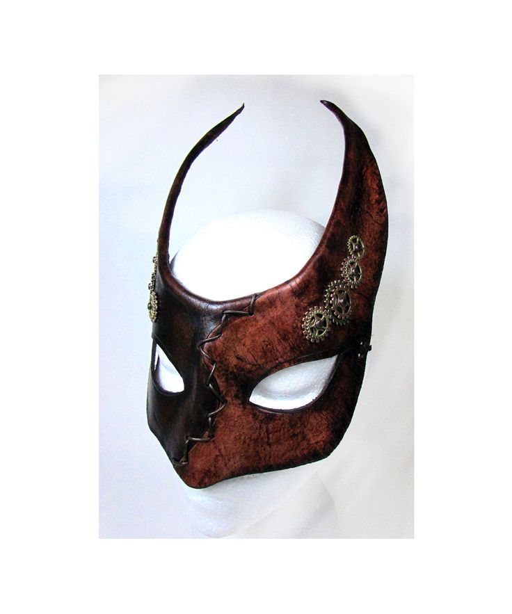 how to make a leather plague doctor mask