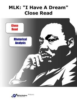 """mlk analysis dream speech Rhetorical analysis of martin luther king's """"i have a dream"""" the """"i have a dream"""" speech has a very simple context the author of the """"i have a dream""""."""