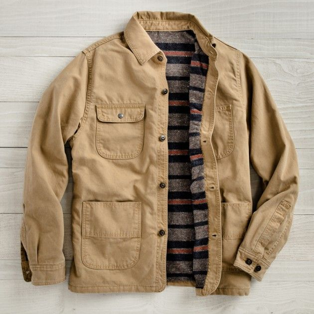 Men's Red Fox Blanket-Lined Chore Coat | Guideboat Company