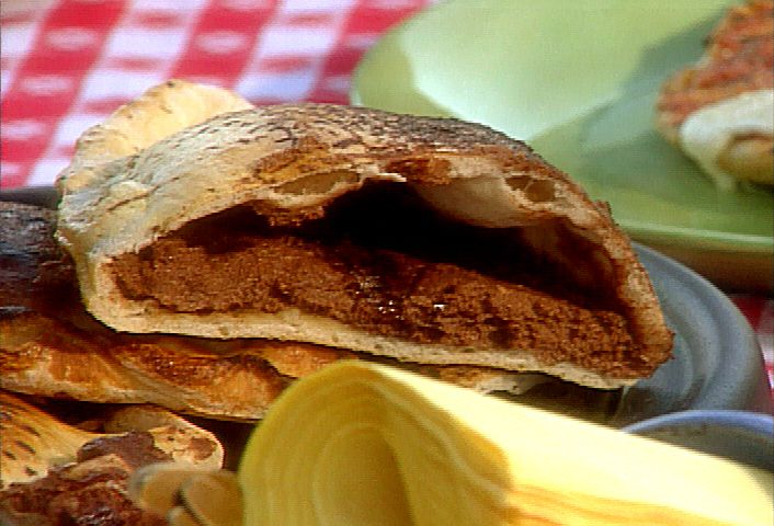Get this all-star, easy-to-follow Chocolate Calzone recipe from Michael Chiarello.