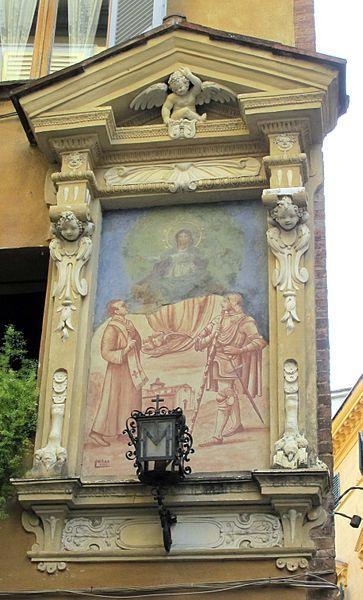 Siena (Italia) - Tabernacolo, Via dei Pispini angolo via di Pantaneto