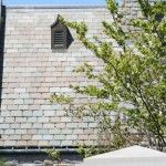 S/W Gray/Green graduated natural slate roofing project in Toronto, Canada. ASTM S-1 rated.