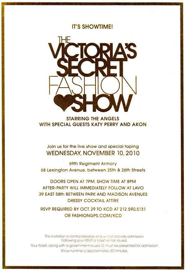 9 best fashion show invitations images by andrew chiang on pinterest victorias secret fashion show tickets stopboris Gallery