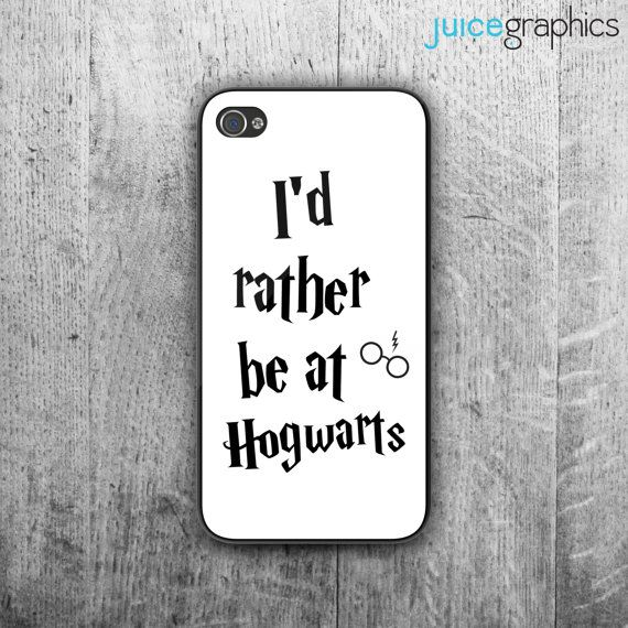 Harry Potter inspired phone case. I'd rather be by JuiceGraphics