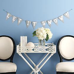 Decorate your walls with a glittery homemade banner - Canadian Living