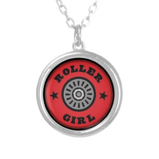 Roller Skate Girl Necklace