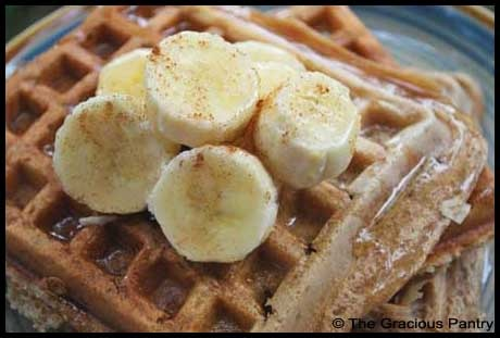Clean Waffles. I made these for dinner tonight and they were delicious!! I used 2% organic milk instead of soy milk and I did 1/2 cup ground oats and 1 cup organic whole wheat pastry flour..they came out nice and crispy and yummy. Score!!