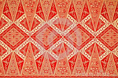 Traditional Batik Sarong Pattern by Jaggat ..., via Dreamstime