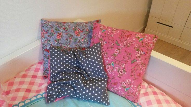 Mooie kussentjes voor op bed