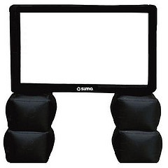 Inflatable TV screen for tailgating. Yes please.: Cute Ideas, Inflatable Tv, Tv Projection, Clever Ideas