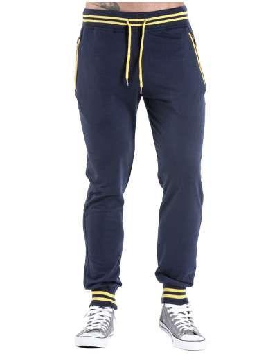 ΝEEΣ ΑΦΙΞΕΙΣ :: Φόρμα Zips and Lines Navy Blue - OEM