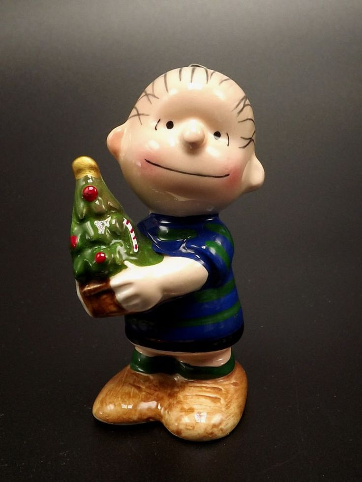 Linus Peanuts Gang Christmas Ornament United Feature Ceramic Hand Painted Vtg #Christmasornament