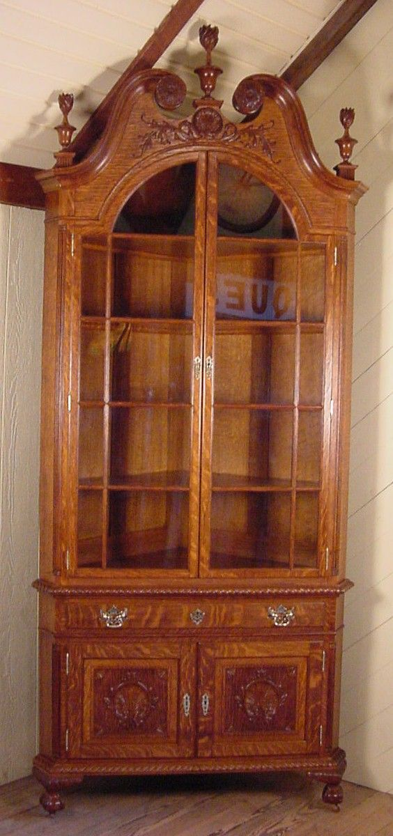 Oak Corner China Cabinet Woodworking Projects Amp Plans