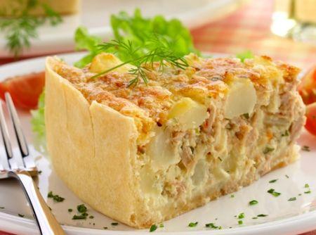 Torta de Atum e Batata - Veja mais em: http://www.cybercook.com.br/receita-de-torta-de-atum-e-batata.html?codigo=15060