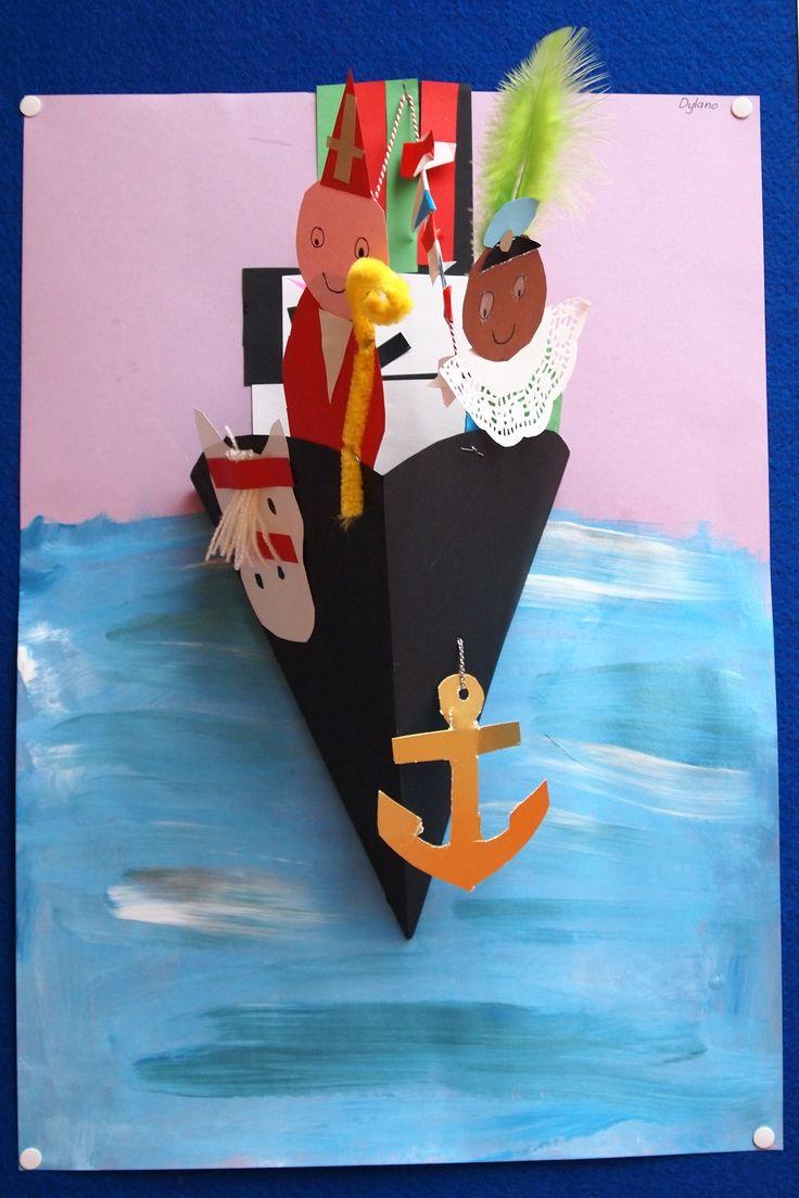 3d knutsel: stoomboot SinterklaasDe boot van Sinterklaas