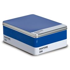 Pantone color storage box. will fit an 8.5x11 sheet of paper and more stylish than a filing cabinet.