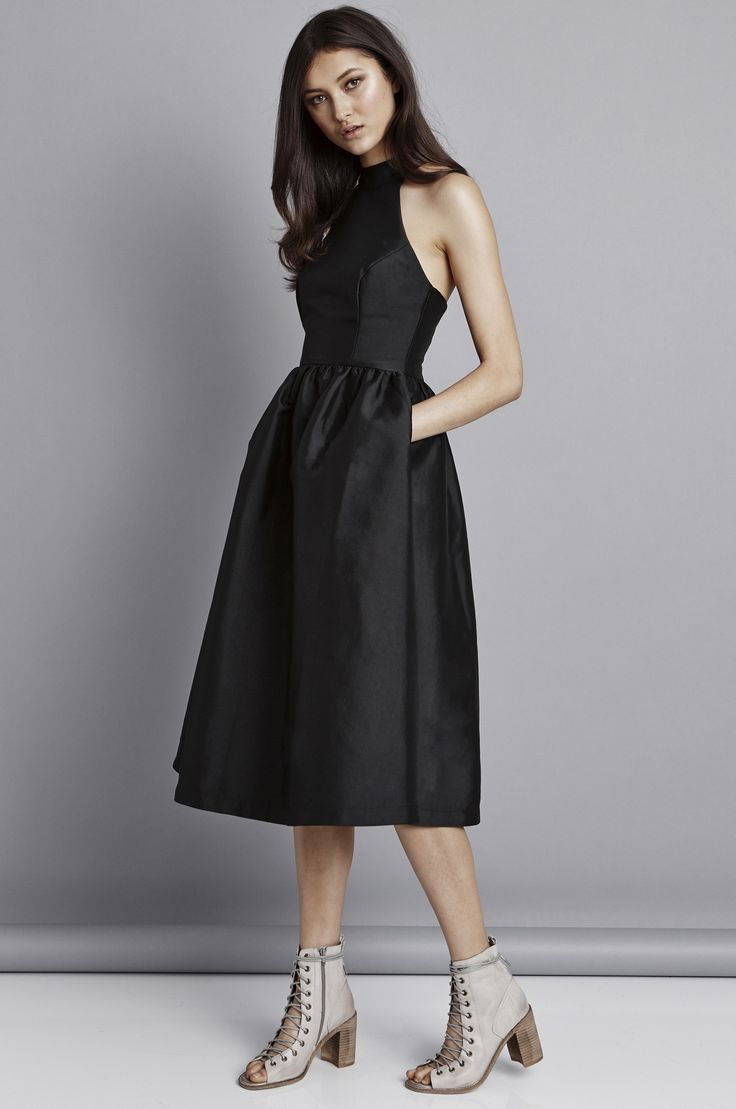 Pink Stitch - Last Word Dress - Black