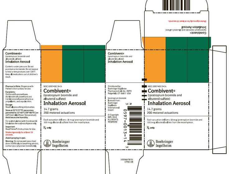 The combination preparation ipratropium bromide/salbutamol is a formulation containing ipratropium bromide and salbutamol sulfate (albuterol sulfate) used in the management of chronic obstructive pulmonary disease (COPD) and asthma (not an FDA approved usage).[2] It is marketed by Boehringer Ingelheim as metered dose inhaler (MDI) and nebuliser preparations under the trade name Combivent. Besides, it is marketed by Dey, L.P. (Napa, California) under the brand name DuoNeb as a nebulizer.