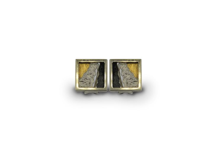 Earrings silver and gold  Audar collection Ref.20E1683 www.enrictorres.com