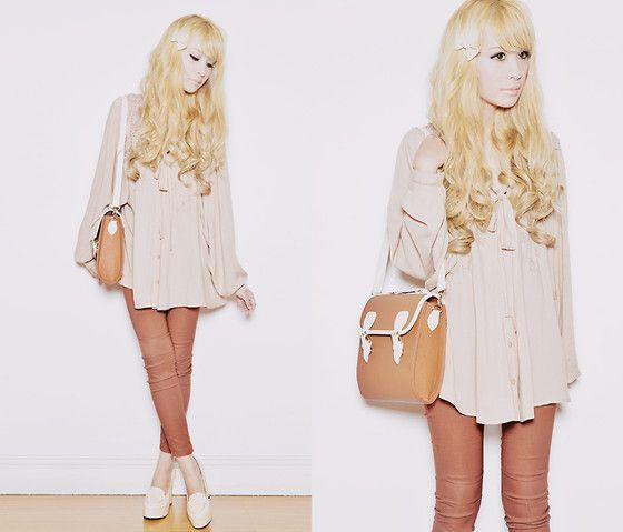 Tricia G, 23, Manila. That is a really cute bag.Elegant Shirts, Blondes Hair, Tricia Gosingtian, Fashion Talk, Asian Style, Fashion Addict, Personalized Style, Fashion Personalized, True Blondes