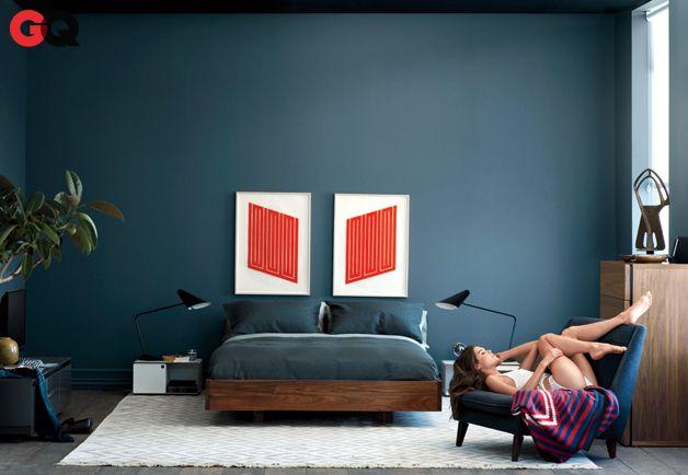 Bedroom - Farrow & Ball Stiffkey Blue Paint (http://us.farrow-ball.com/stiffkey-blue/colours//fcp-product/100281)