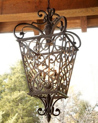 outdoor chandelier - I like this one too!