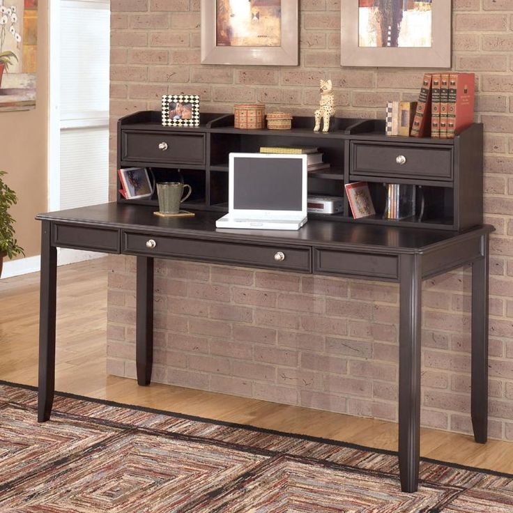 Carlyle Large Leg Desk and Large Low Hutch by Ashley Furniture - Hank Coca's Downtown Furniture - Desk & Hutch San Jose, California and San Francisco Bay Area