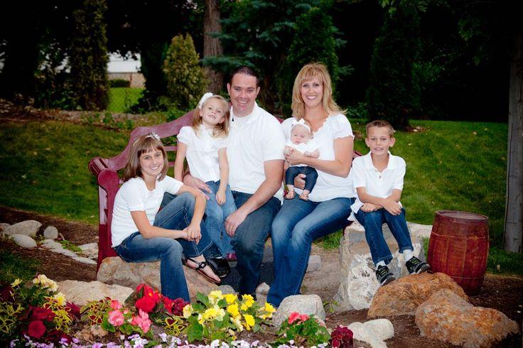 Family Photo Ideas White Shirts