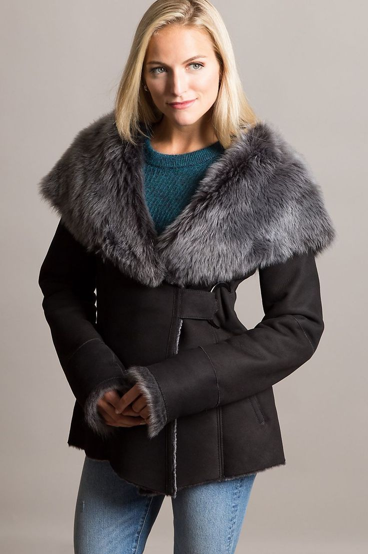 Embrace winter in the Felicia Shearling Sheepskin Jacket. Lavished in plush Merino sheepskin and crowned with a hood trimmed in Toscana. Free shipping   returns.