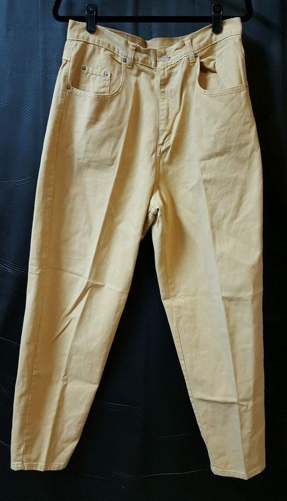 Mustard Yellow Straight Leg Jeans Size 16 30 X 31 100% Cotton Match Jeanswear #match #StraightLeg