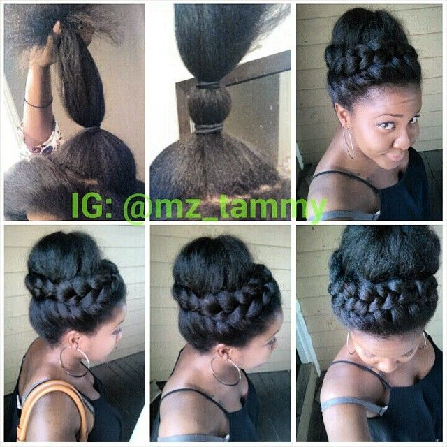 Awe Inspiring 1000 Ideas About Natural Hair Updo On Pinterest Natural Hair Short Hairstyles For Black Women Fulllsitofus
