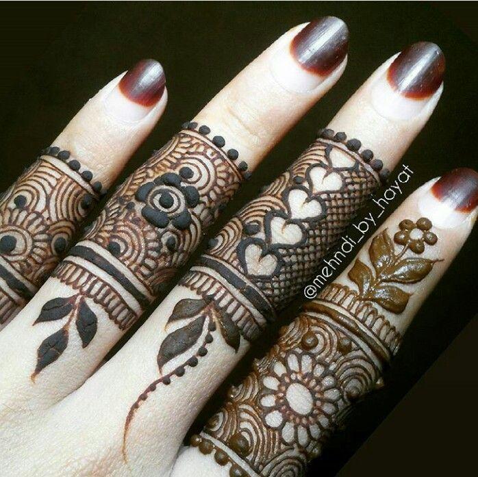 Nail art with hena