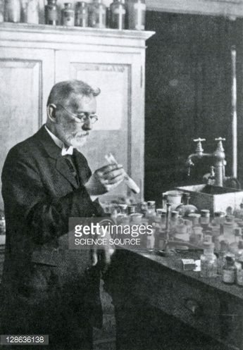 German bacteriologist Paul Ehrlich was a pioneer in hematology and chemotherapy, and produced a treatment for syphilis. In 1908 he was the joint winner of the Nobel Prize for Medicine.