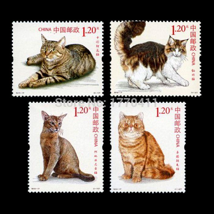 Найти ещё Марки Сведения о Кошки, 4 шт./компл., печать в 2013, все новые для сбора китай почтовые марки, высокого качества Марки из Lucky Toney на Aliexpress.com
