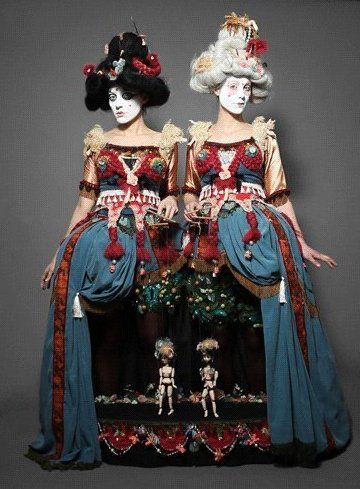 """The Little Theatre of Dolls - I've seen another version of this """"dress opens and becomes a puppet stage""""-creation in some museum long ago and it has haunted me ever since... maybe I'll use it someday maybe not. In any case I want to see these people and their show."""