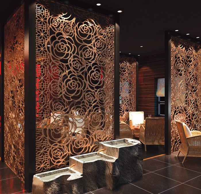 Decoration effect of laser cut screens.
