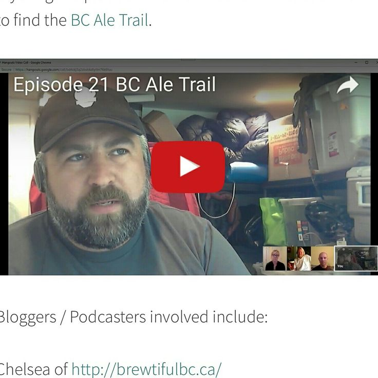 The latest episode of Pacific Beer Chat is now live. This episode we talk with Joe Wiebe about the BC Ale Trail. To watch or listen to the episode click on the link in our profile.   https://pacificbeerchat.com/2017/08/22/episode-21-bc-ale-trail/