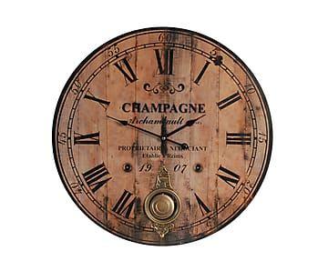 Настенные часы - дерево - коричневый - Ø59