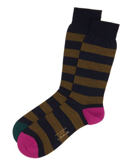 Stripe pattern socks - Navy | Socks | Ted Baker UK
