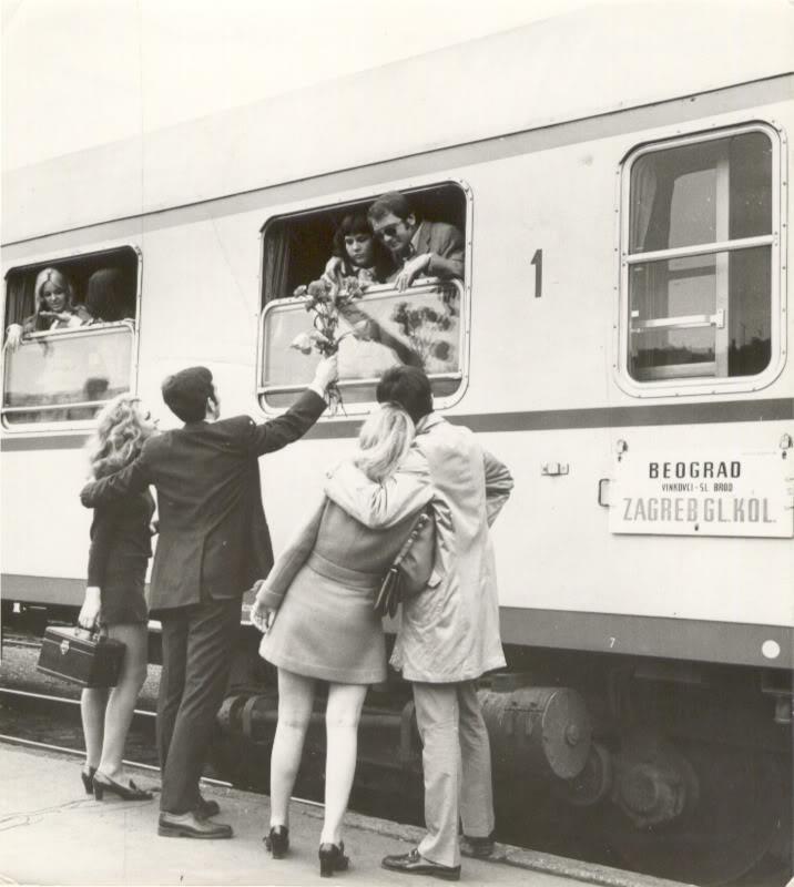 Central Train Station Belgrade 1970 Photo Black And White Chiaroscuro